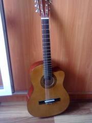 Продам Бу классическую Гитару с чехлом(хорошее состояние)(см.внутри)