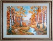 Картина ручной работы Золотая роща