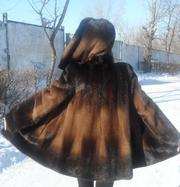 Шуба норковая 44-46 размер,  трапеция